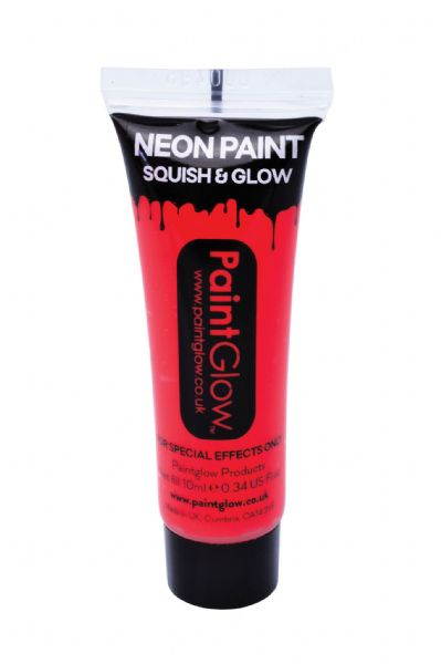 PaintGlow UV Face & Body Paint - Neon Red